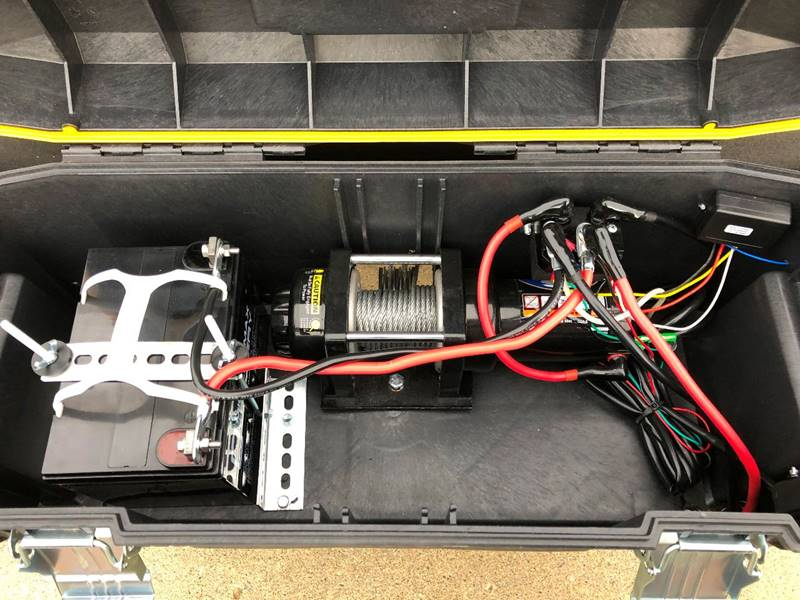 No batteries to maintain - Optional 100 AMP/HR AGM battery that charges from your vehicle (no more dead battery surprises) Optional 2 AMP solar charger